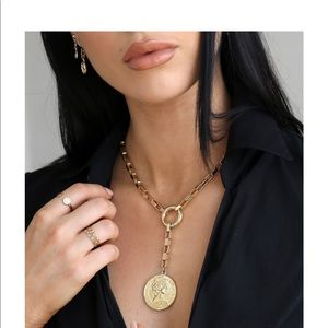 Ettika 18k Gold Plated Lariat Necklace